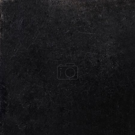 Photo for Abstract black background with scratches. Vintage grunge background texture, elegant monochrome background design. Grungy textured blackboard. - Royalty Free Image