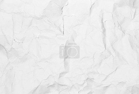 texture de papier froissé de blanc