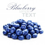 Blueberries on white plate isolated on white backg...