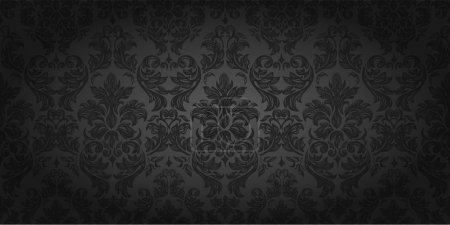 Illustration for Seamless wallpaper pattern, black - Royalty Free Image