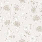 Romantický květinový bezešvé retro květinový vzorek pozadí