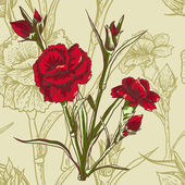 Seamless floral background with carnation
