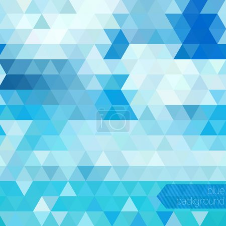 Illustration for Blue abstract geometric background - Royalty Free Image