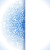 Blue winter round lace background