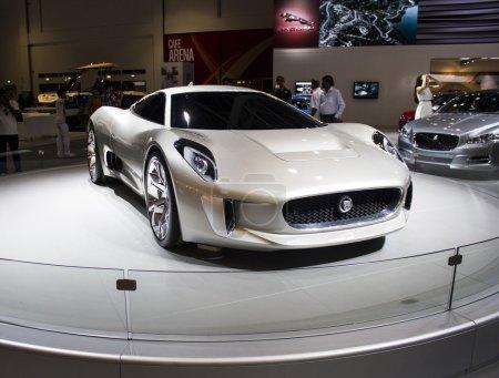 Dubai, UAE - NOVEMBER-14-2011: Jaguar Cx 16 front ...
