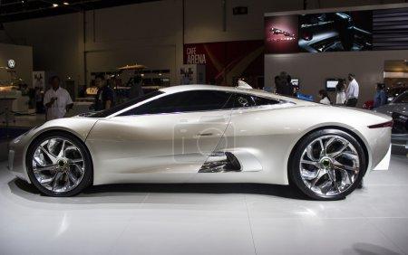 Dubai, UAE - NOVEMBER-14-2011: Jaguar Cx 16 silver...