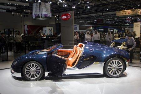 Dubai, UAE - NOVEMBER-14-2011: Bugatti blue with o...