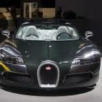 Dubai, UAE - NOVEMBER-14-2011: Bugatti green on di...