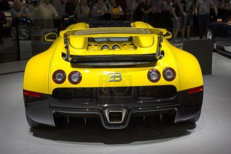 Bugatti yelow back view