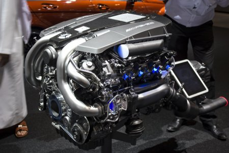 Mercedes Benz AMG car engine