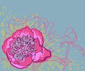 """Постер, картина, фотообои """"Вектор декоративные изображения пион цветы"""""""
