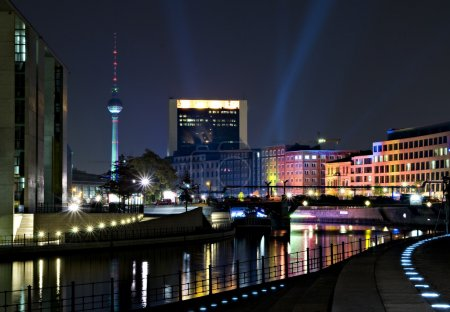 Berlin and Spree by Night