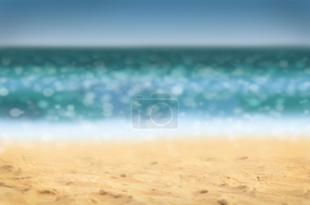 Summer holidays background - beach and sea, defocu...