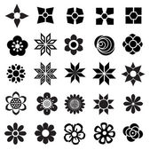 Flower vector set flowers icon