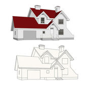 Beautiful modern house cottage illustrations buildings vector