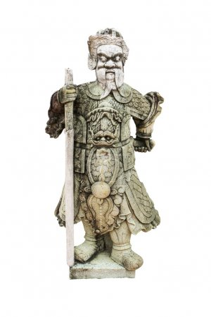 The Chinese warrior statues