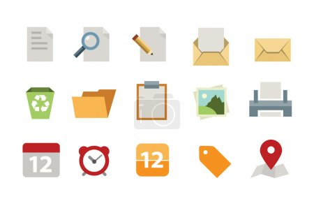 Illustration for Flat document icon set - Royalty Free Image