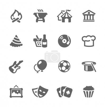 Illustration pour Ensemble simple d'icônes vectorielles liées aux événements pour votre conception et votre application - image libre de droit