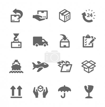 Illustration for Simple icon set related to shipping and logistics. - Royalty Free Image