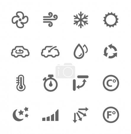 Photo pour Ensemble simple d'icônes vectorielles liées à la climatisation pour votre conception . - image libre de droit