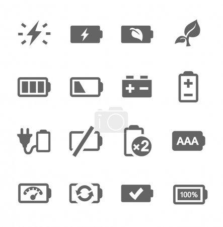Illustration pour Ensemble simple d'icônes vectorielles liées à la batterie pour votre conception . - image libre de droit