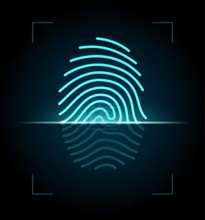 Fingerprint scanner illustration