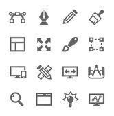 Simple set of design related vector icons for your site or application