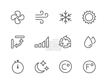 Thinline Air Conditioning Icons