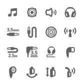 Headphones features icons
