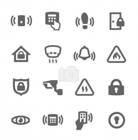 Illustration pour Ensemble simple d'icônes vectorielles liées à la sécurité du périmètre pour votre conception - image libre de droit