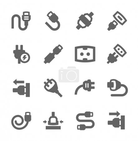 Illustration for Simple set of plug in related vector icons for your design - Royalty Free Image