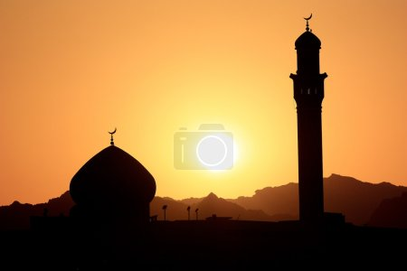 Sunset and mosque