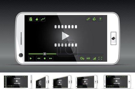 White Smart Phone Video Player