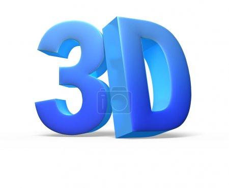 Logotipo 3D aislado en blanco