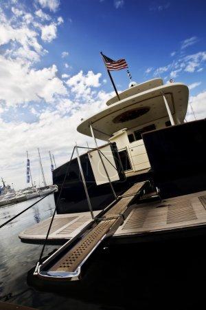 Stern of yacht