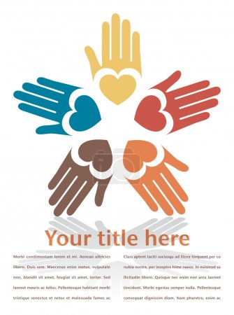 Illustration for Circle of colorful hands - Royalty Free Image