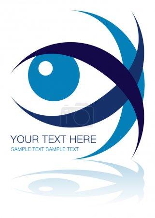 Illustration for Striking eye design - Royalty Free Image