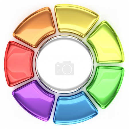 Photo pour Graphique à roues colorées - image libre de droit