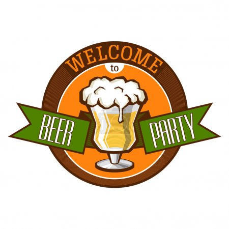 Invitation to beer party