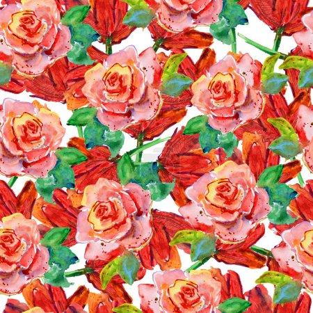 Photo pour Motif floral sans soudure. - image libre de droit