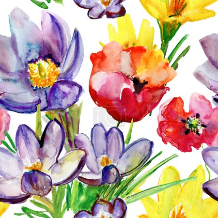 Wallpaper with wild flowers