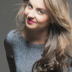 Closeup Portrait of Seducing Glamorous Brunette Wo...