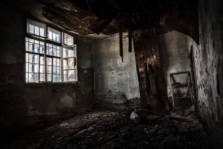 Photo for Old abandoned office interior - Royalty Free Image