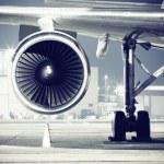 A airplane turbine detail...