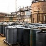 Barrel containing much hazardous waste in a firm...
