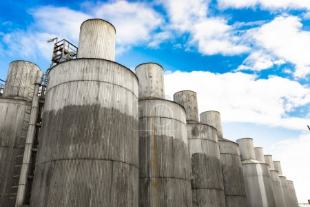Beer processing and storage silos