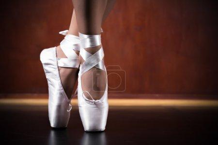 Young ballerina dancing, closeup