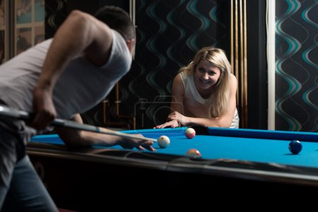 Couple Playing Billard