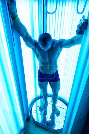 Bodybuilder In Solarium