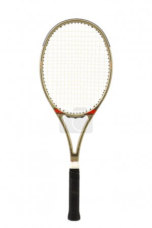 Gray tennis racket